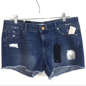 DL1961 Renee Distressed Jean Shorts